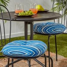 Turquoise Bistro Chair 15 Inch Round Outdoor Marine Blue Bistro Chair Cushions Set Of 2