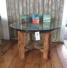 timber and glass coffee table davallia