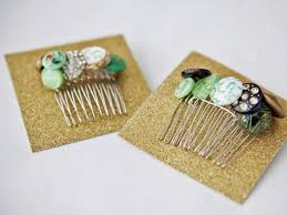 hair combs embellish hair combs with vintage buttons hgtv