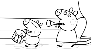 peppa pig and george coloring book coloring pages video for kids