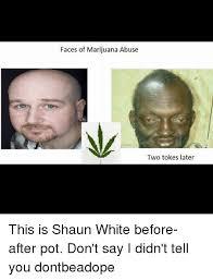 Shaun White Meme - faces of marijuana abuse two tokes later this is shaun white
