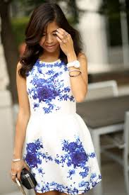 white with blue dress dress images