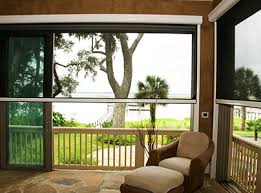 Solar Shades For Patio Doors by Roll Down Solar Screens