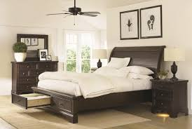 Sleigh Bed With Drawers California King Sleigh Bed With Under Bed Storage Drawers By
