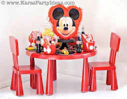 Mickey Mouse Party Theme Decorations - kara u0027s party ideas mickey mouse themed birthday party planning