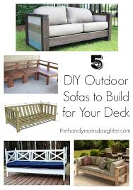 Build Your Own Outdoor Patio Table by 5 Diy Outdoor Sofas To Build For Your Deck Or Patio The