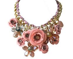 pink flower collar necklace images 2014 new z brand fashion pink crystal necklace pendants chunky big jpg