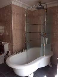 scottini calvari resin roll top rain bath u0026 french needle shower