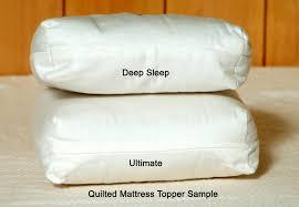 Eco Mattress Topper 2 5 Organic Cotton U0026 Wool Quilted Mattress Topper Soft Natural Pillow