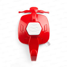 tools scooter suction cup hook red with white button
