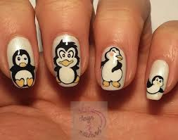 365 days of nail art day 332 nail art penguins