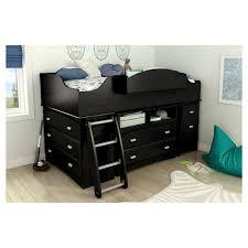 South Shore Bunk Bed Imagine Loft Bed 39 Black Oak South Shore Target