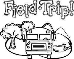 zoo field trip bus coloring page wecoloringpage