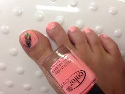 feather design on toe nails youtube