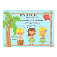 personalized hula invitations custominvitations4u com