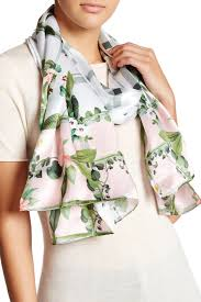 ted baker london secret trellis long silk scarf nordstrom rack