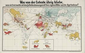 Unification Of Germany Map by German Propaganda Map Of The Allies U0027 Colonial Empires Circa 1916