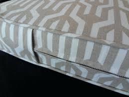 custom bay window seat cushion trapezoid with cording bench