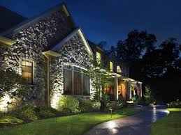 outstanding stone landscaping ideas with outstanding stone wall house plus interesting landscape lighting