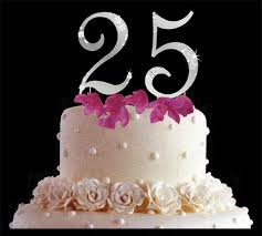 25 cake topper 25th wedding anniversay cake toppers 25th anniversary cake