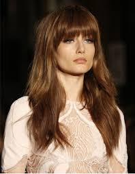 long layers with bangs hairstyles for 2015 for regular people retro 70 s fringe a 2015 hair trend must fringe pinterest