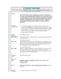 undergraduate curriculum vitae pdf sles undergraduate student resume sle sle of resume 2