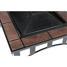 Uniflame Propane Fire Pit - propane fire pit with square ceramic tiles 32 square fire pit with