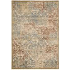 Nourison Kitchen Rugs Nourison Graphic Illusions Light Gold 7 Ft 9 In X 10 Ft 10 In
