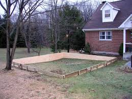 Backyard Ice Rink Kits by Backyard Ice Rink On Unlevel Ground Outdoor Furniture Design And