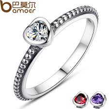 s day rings bamoer s day gift 3 colors authentic 100 925 sterling