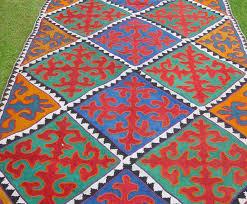 Felt Area Rugs Shyrdak Felted Rug From Kyrgyzstan Textiles Pinterest