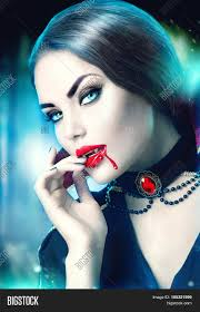 vampire halloween woman portrait beauty vampire with