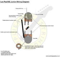 six string supplies u2014 les paul junior wiring diagram