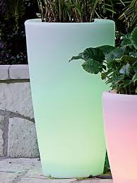 solar illuminated planter tall