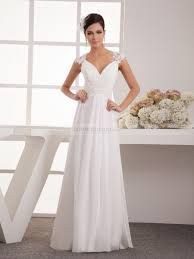 simple wedding dresses appliqued simple a line chiffon wedding dress