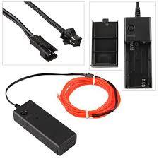 Computerm El Rot Lichtschnur Leuchtschnur Leuchtdraht El Neon Kabel Amazon De