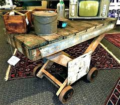 railroad cart coffee table antique cart coffee table old factory cart coffee table large size