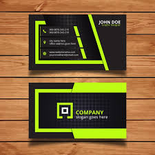 card design green and black corporate business card design vector free