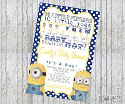 minions baby shower minion baby shower invitations wblqual