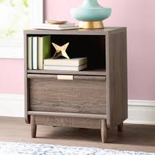 end table with locking drawer nightstand with lock wayfair