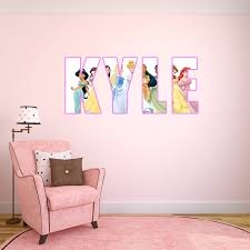personalised name disney princess wall sticker decal by