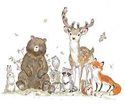 woodland nursery decor woodland animals giclee forest animals