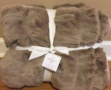 Pottery Barn Faux Fur Pillow Pottery Barn Solid Faux Fur Afghans U0026 Throw Blankets Ebay