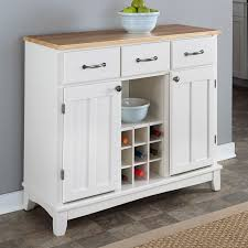 Wood Top Kitchen Island by Natural Wood Top Kitchen Island Sideboard Cabinet Wine Rack In