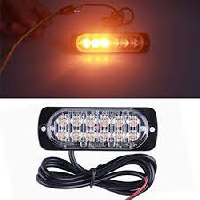 amazon led auto lights amazon com ecosin 12 led auto truck emergency lights flash brake