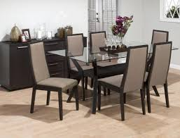 Dining Room High Back Chairs by Dining Room Pretty Glass Dining Room Table Idea Also Elegant