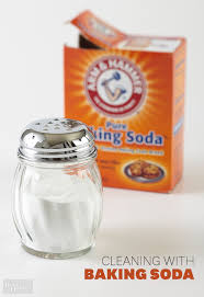 Cleaning With Baking Soda - Cleaning kitchen sink with baking soda
