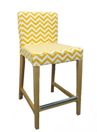 Custom Dining Room Chair Covers Chevron Custom Slipcover For Ikea Henriksdal Bar Stool From