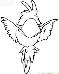 p parrot coloring page free parrots coloring pages