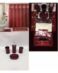 Maroon Bath Rugs Great Deal On 22 Piece Bath Accessory Set Burgundy Red Bath Rug